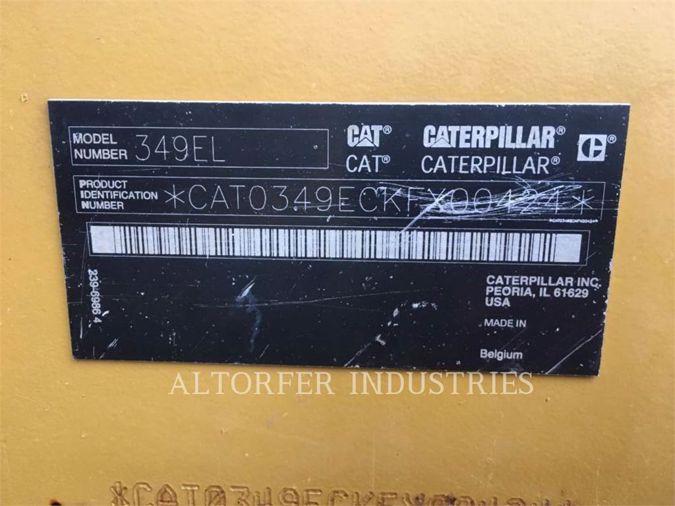 2015 CATERPILLAR 349E
