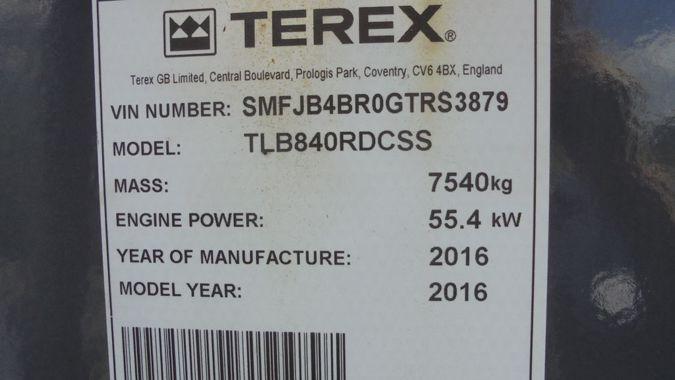 2016 TEREX TLB840