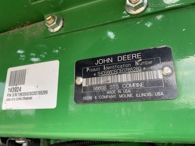 2014 JOHN DEERE S660