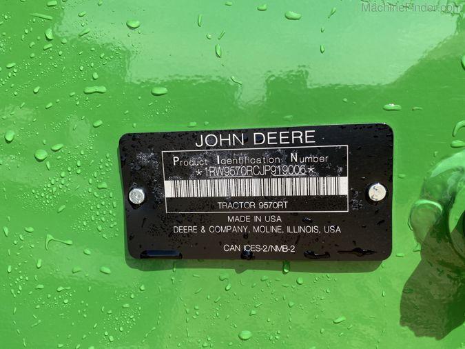 2019 JOHN DEERE 9570RT