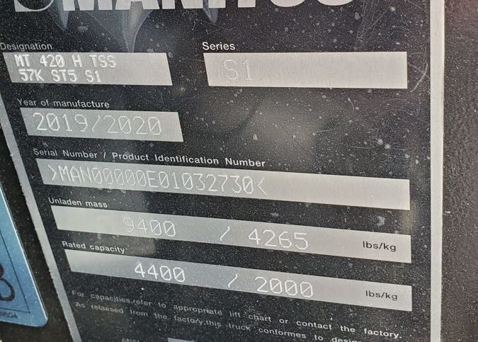 2020 MANITOU MT 420