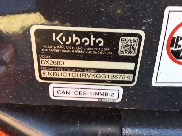 2019 KUBOTA BX2680