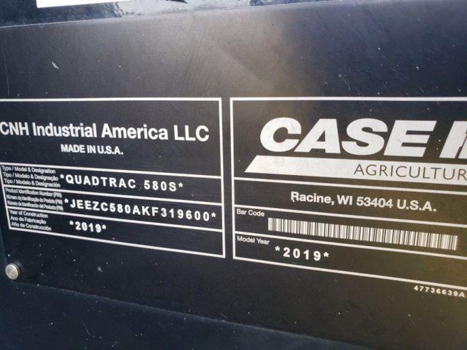 2019 CASE IH STX STEIGER 580